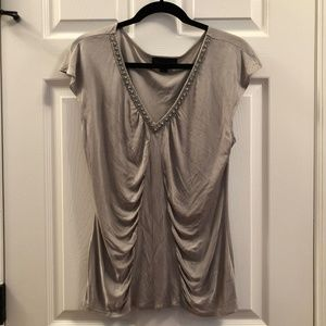 Night Out Top Beaded Metallic Ruched Large 226